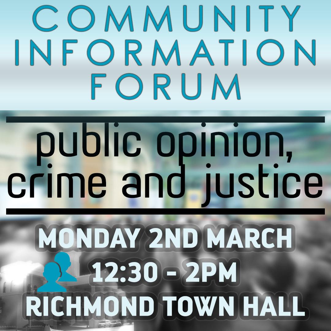 Public Opinion, Crime & Justice
