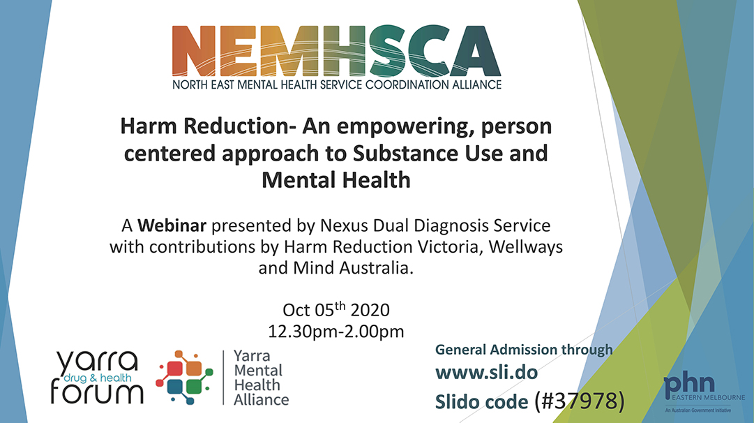 October Online Forum: An Empowering, Person Centered Approach To Substance Use And  Mental Health