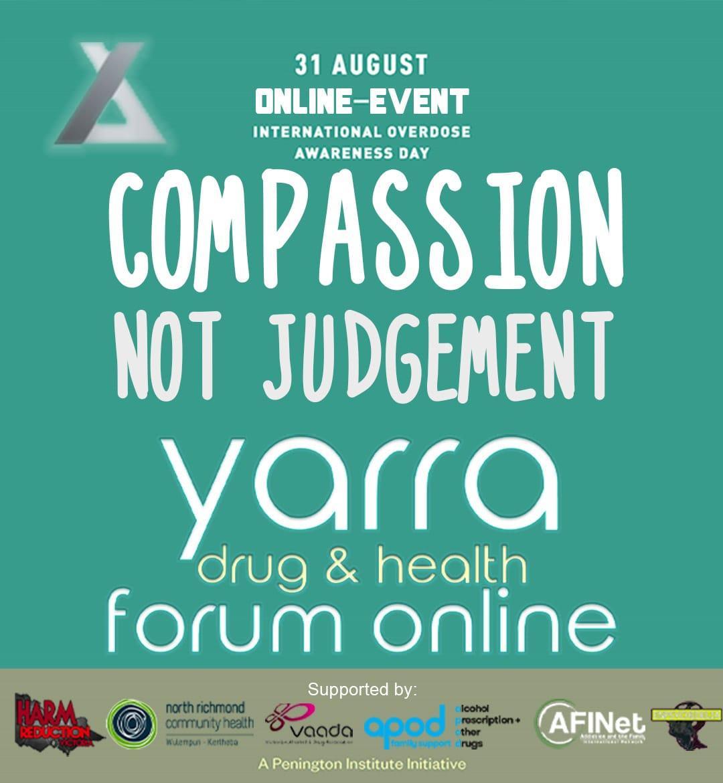 International Overdose Awareness Day Online Forum – Compassion Not Judgement