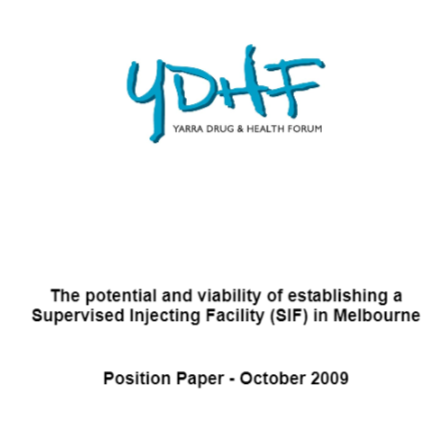 Safe Injecting Facility Position Paper